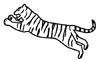 Tiger Malvorlage - Tiger zum Ausdrucken und Ausmalen