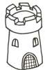 Turm Malvorlage - Ritter Wehrturm Ausmalbild