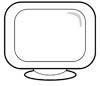 Fernseher Malvorlage - LCD TV Ausmalbild