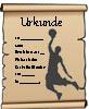 Urkunde Basketball - kostenlose Vorlage