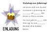 Einladung zum 4. Kindergeburtstag - Vorlage zum Ausdrucken