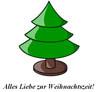 Grußkarte zur Weihnachtszeit Vorlage - Liebe Grüße