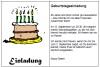 Vorlage witzige Einladung zum 40. Geburtstag
