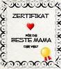 Zertifikat für die beste Mama zum Ausdrucken