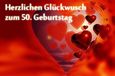 Süßer Wunsch zum Fünfzigsten