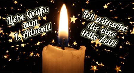 diese Kerze bringt liebe Grüße zum Advent