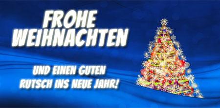 Weihnachtsbaum mit lieben Grüßen zum Fest der Liebe