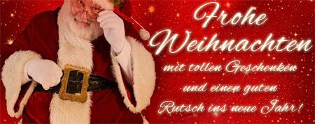 Bild mit Grüßen vom Weihnachtsmann