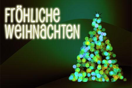 Frohe Weihnachten auf Facebook mit einem Weihnachtsbaum