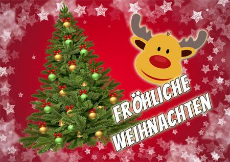 Lustig Frohe Weihnachten Wünschen als Profilbild