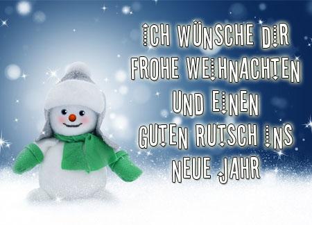 Schneemann mit Weihnachtsgrüße für WhatsApp