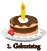 Gl�ckw�nsche zum ersten Geburtstag