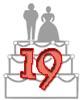 Glückwünsche zum 19. Hochzeitstag