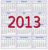 Kalender für 2013 zum Ausdrucken