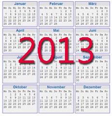 Kalender Vorlagen 2013