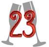 Glückwünsche zum 23. Hochzeitstag