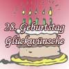 Glückwünsche zum 28igsten Geburtstag