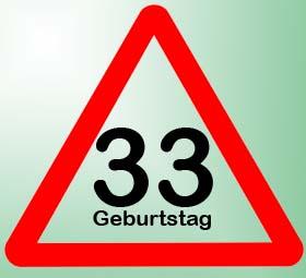 33. Geburtstag Sprüche