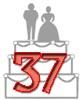 Glückwünsche zum 37. Hochzeitstag