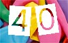 Glückwunschkarten zum 40. Geburtstag