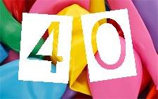 Karten zum 40. Geburtstag