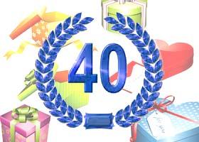 40. Hochzeitstag Geschenke