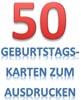 Karten zum 50. Geburtstag
