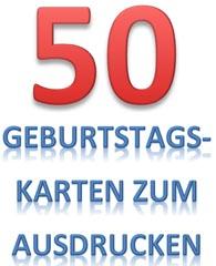 50. Geburtstag Vorlagen