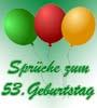 Geburtstagssprüche 53