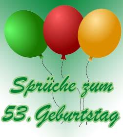 53. Geburtstag Sprüche