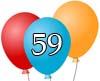 Glückwünsche zum 59igsten