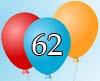 Glückwünsche zum 62igsten