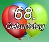 Glückwünsche zum 68. Geburtstag