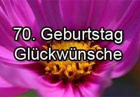 70. Geburtstag Gl�ckw�nsche