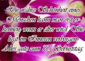 70. Geburtstag Glcükwünsche
