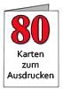 Geburtstagskarten zum Ausdrucken zum 80.