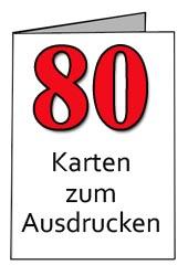 Glückwünsche Zum 80 Geburtstag Kostenlos - Vorlagen