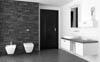 Badezimmer Wandgestaltung mit Steinen
