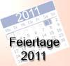 freie Tage 2011