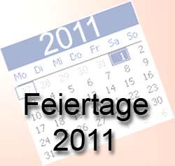 Feiertage 2011