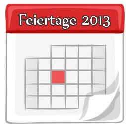 Feiertage 2013