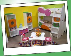 Kinderzimmer Beispiel Hochbett