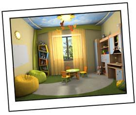 Kinderzimmer Beispiel Bunt Modern