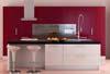 Rote Küchenmöbel