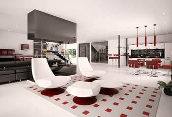 offene raumgestaltung wohnung offen gestalten. Black Bedroom Furniture Sets. Home Design Ideas