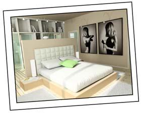 Schlafzimmer Beispiel Modern Bett
