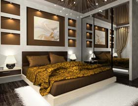 schlafzimmer in braun und beige gestalten erdfarben. Black Bedroom Furniture Sets. Home Design Ideas