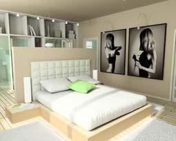 Kleines Schlafzimmer Modern Gestalten Weich Bettwsche - Schlafzimmer selbst gestalten