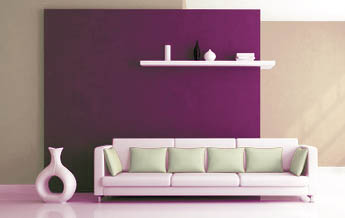 Ambitious and combative wohnzimmer wand streichen ideen for Flieder farbe wand